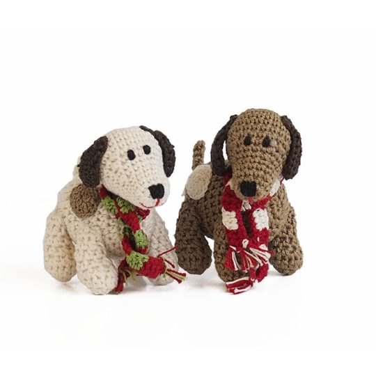 crocheted dog ornament