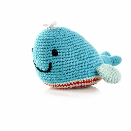 crocheted whale rattle