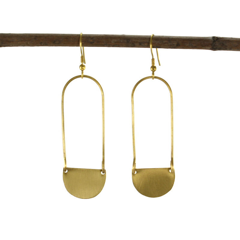 aliya earrings gold
