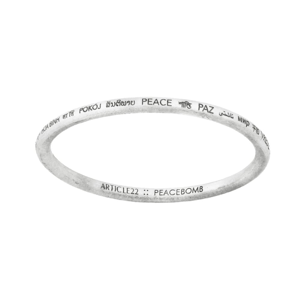 article 22 peace bangle