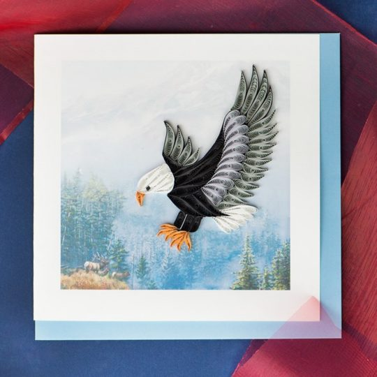 Quilling cards art of quilling handmade cards fair trade winds flying eagle quilling card m4hsunfo