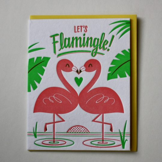 lets flamingo card styled