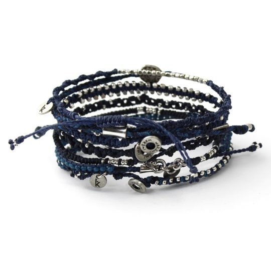 earth bracelets navy back