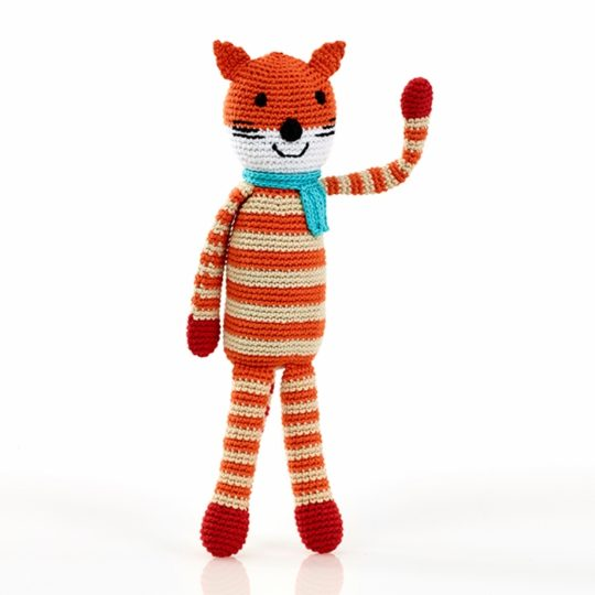 knit fox rattle