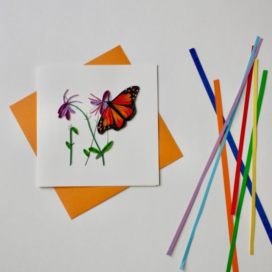 monarch quilling card styled