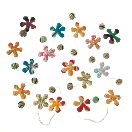 recycled sari flower garland