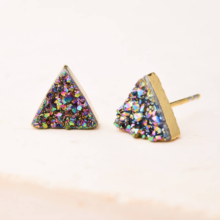 kyra druzy stud earrings
