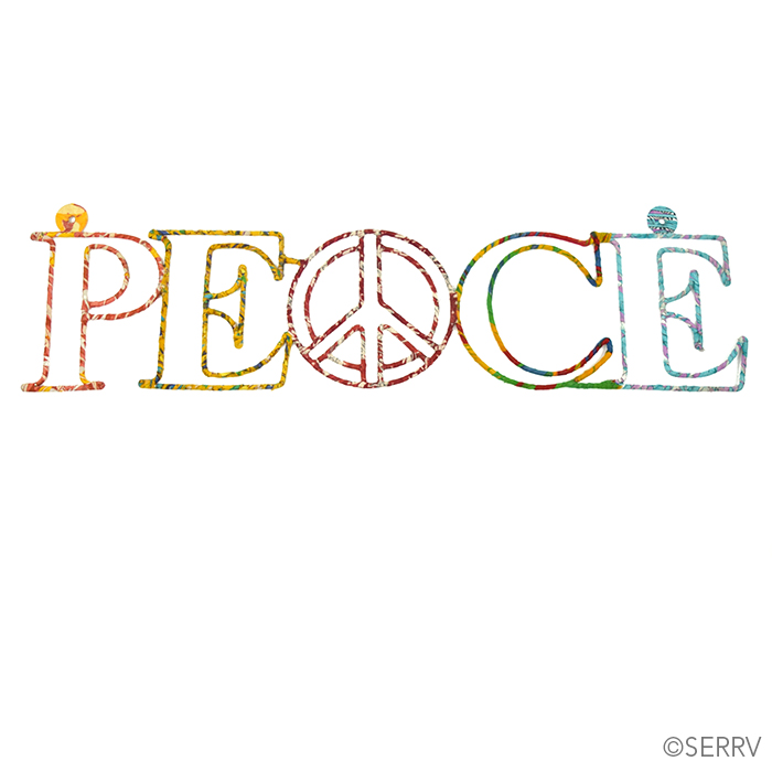 peace kantha wall word
