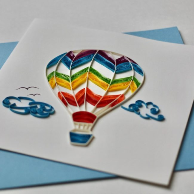 air balloon quilling card 1