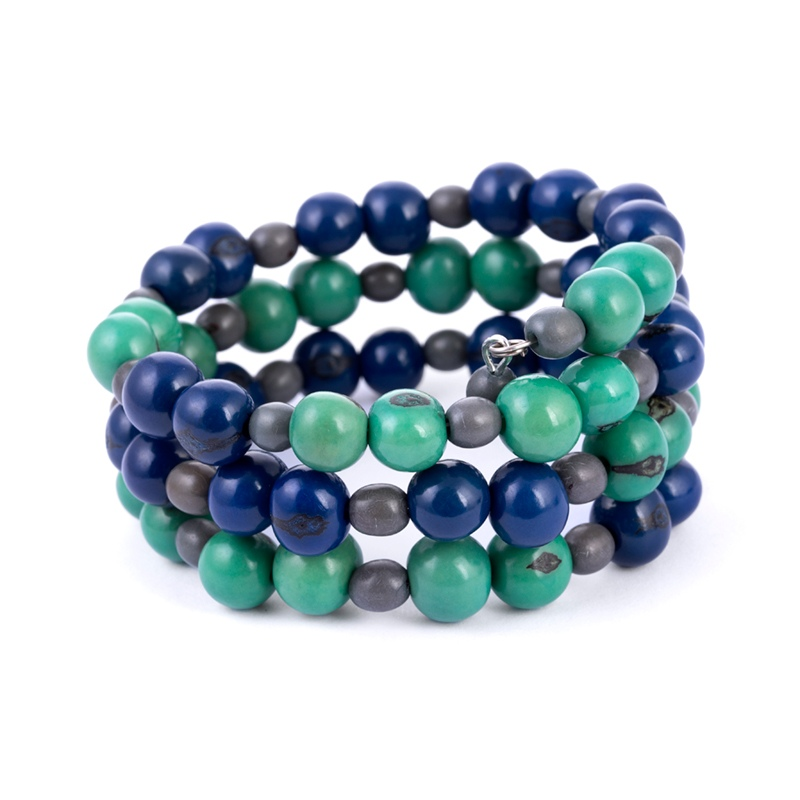 Home Faire Whole Fw18 Ecuador Pamela Bracelet Strength Blue Emerald