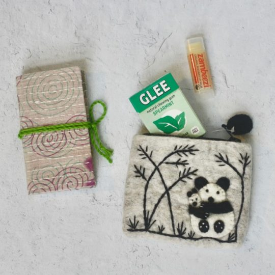 panda felt coin purse styled