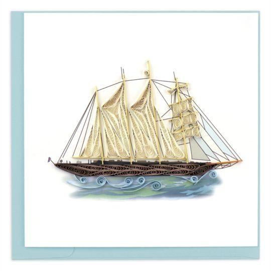 schooner quilling card