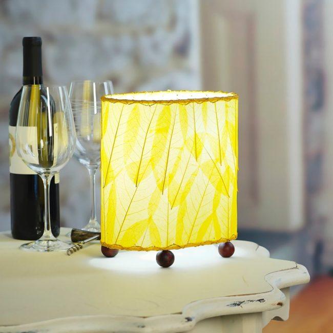 Mini Guyabano Leaf Lamp – Yellow