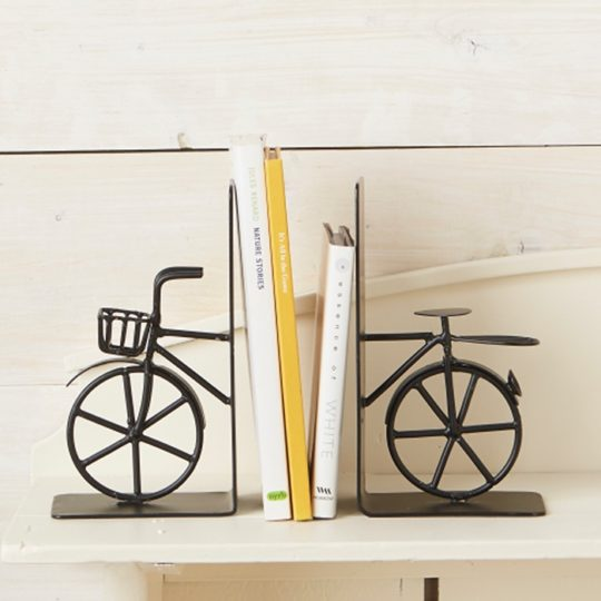 bicycle bookends styled