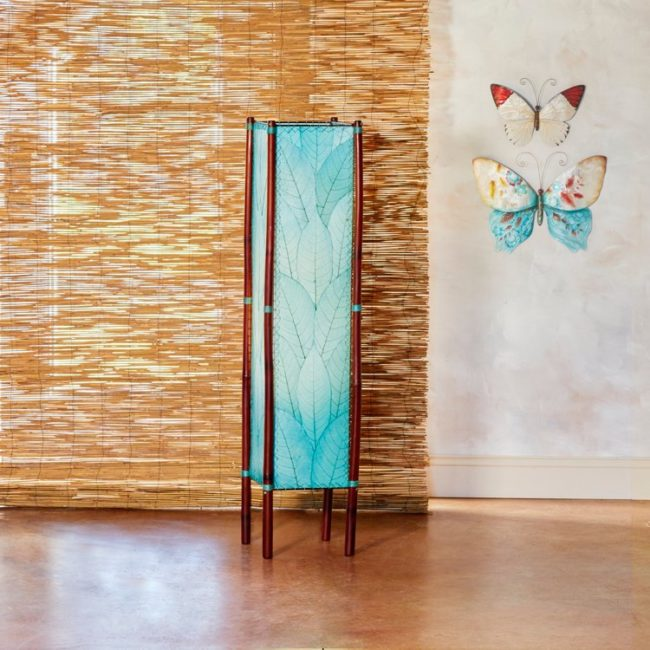 blue fortune leaf lamp styled