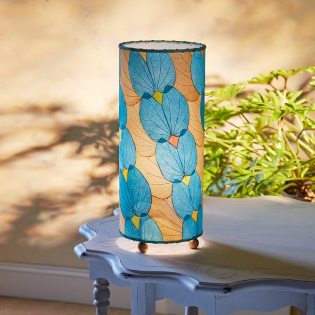 butterfly leaf table lamp styled