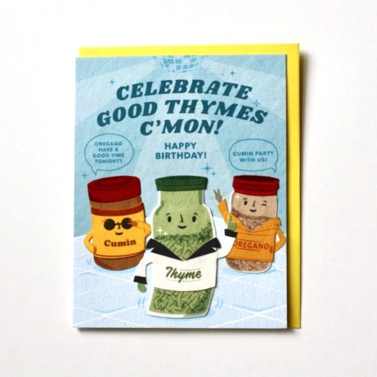 celebration thyme bday card