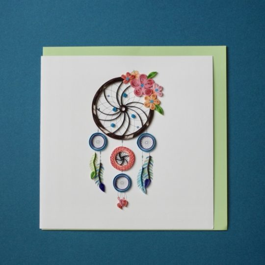 dream catcher quilling card styled