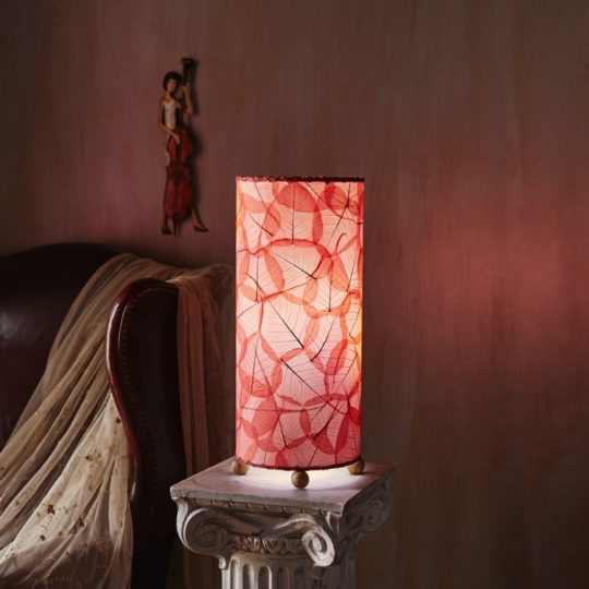 red banyan leaf table lamp styled