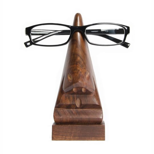 wood eyeglass holder