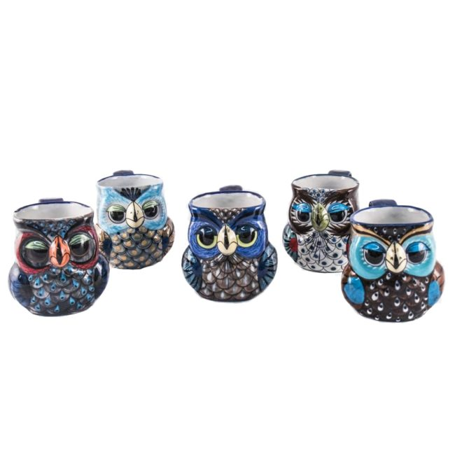 ceramic owl mugs