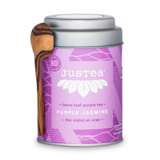 justea tin purple jasmine loose leaf tea