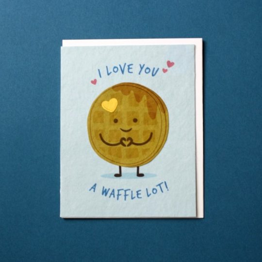 love you waffle lot card