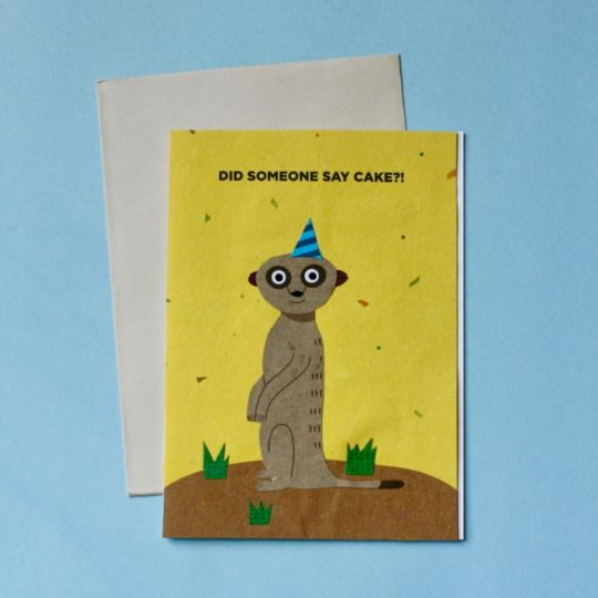 meerkat birthday card styled