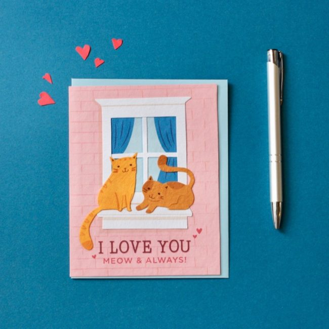 meow and always card styled