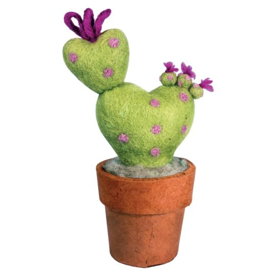 small love felt cactus