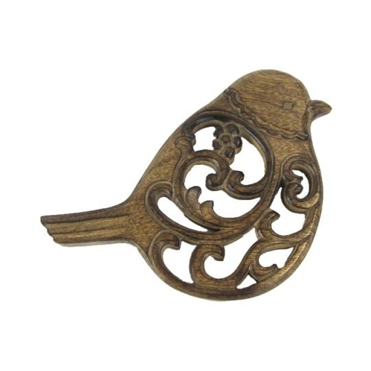 mango wood bird trivet