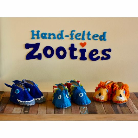 hand felted zooties