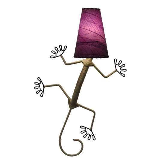 purple gecko leaf lamp