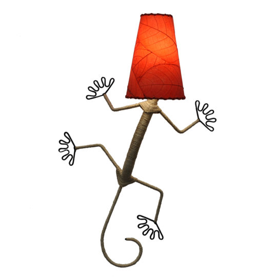 red gecko leaf lamp