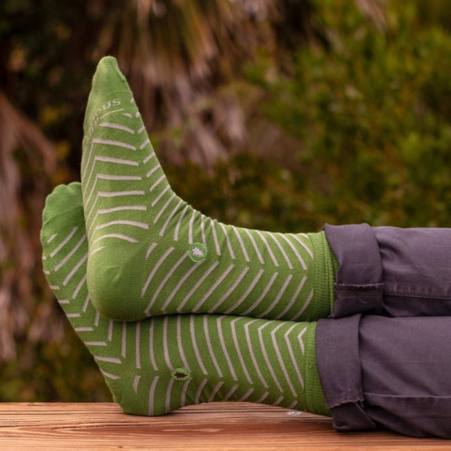 socks that plant trees green lines
