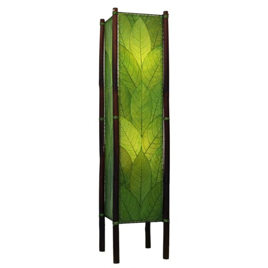 green fortune leaf floor lamp