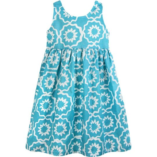 chroma sky blue sundress
