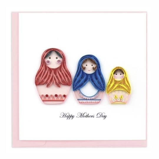 nesting dolls mother's day quilling card