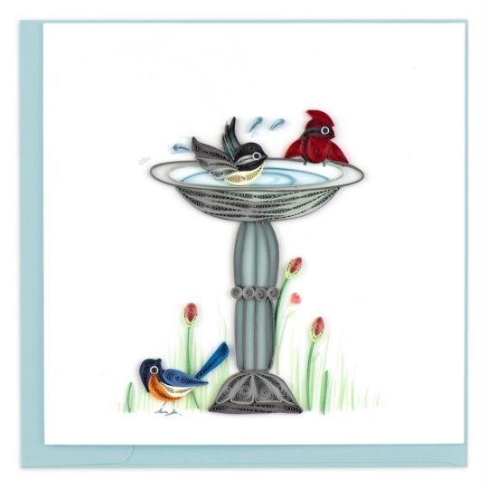 bird bath quilling card