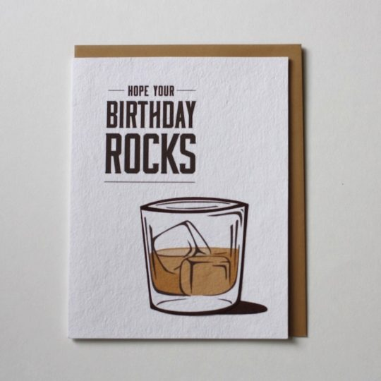 birthday rocks card