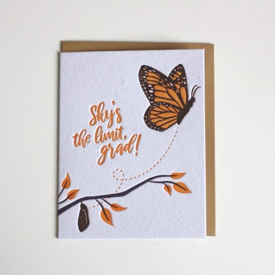 butterfly graduation card