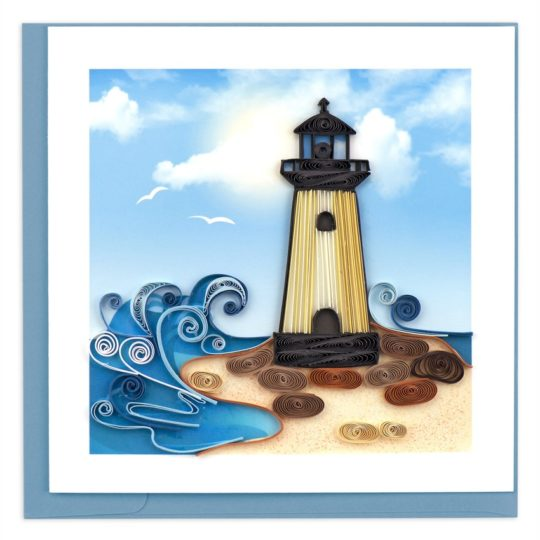 lighthouse scene quilling card