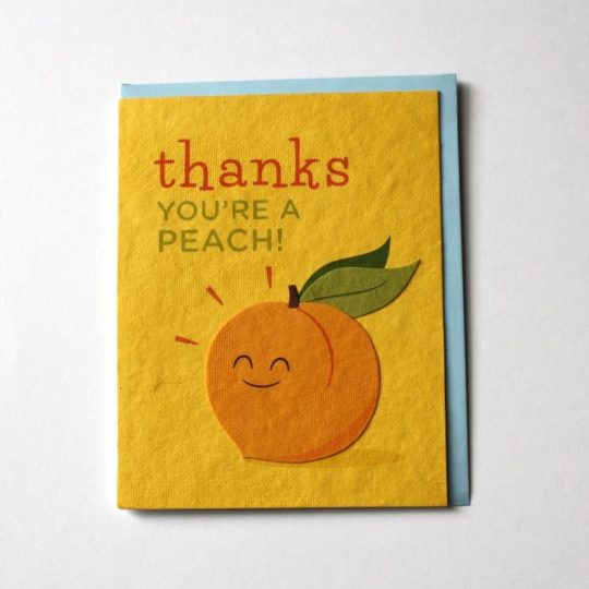 peach thanks card