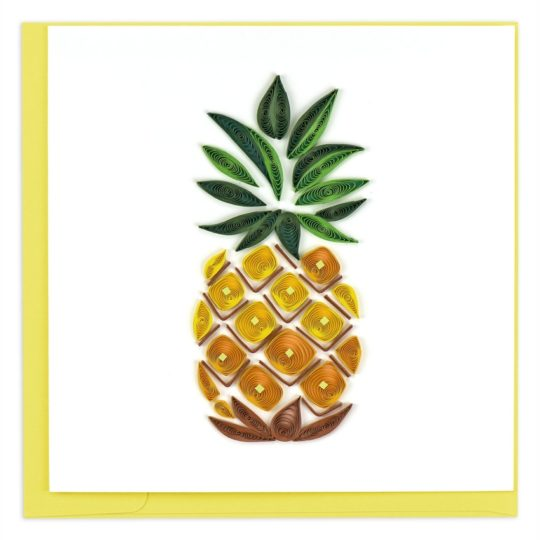 pineapple quilling card