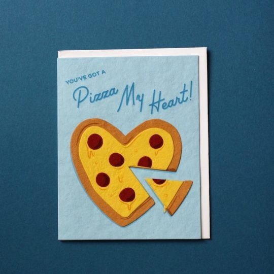 pizza my heart love card
