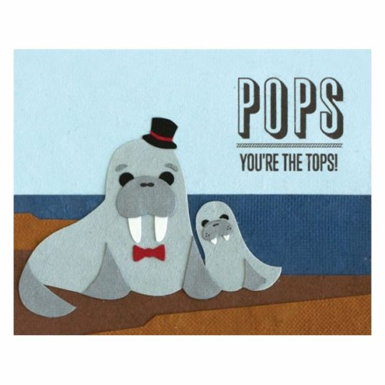 pops youre the tops card
