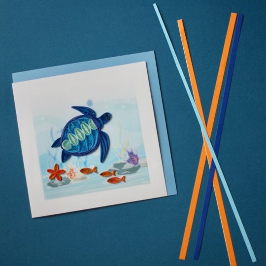 sea turtle quilling card styled