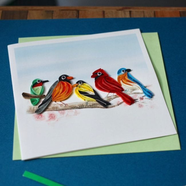 songbirds quiling card styled 1