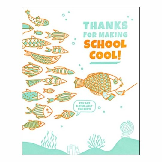 thanks for making school cool card