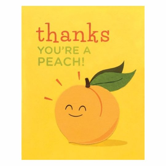 thanks youre a peach card